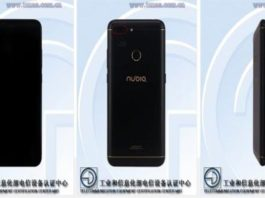 A Nubia smartphone recently spotted in TENAA and Geekbench score with the model number only.