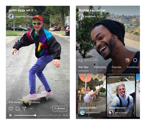 The users will also get notifications from the app that new video is uploaded recently by any creator whom you follow.