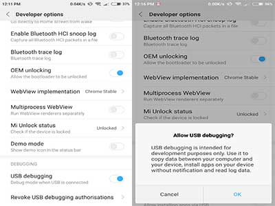 Go to device setting panel > Additional Settings >Developer Options
