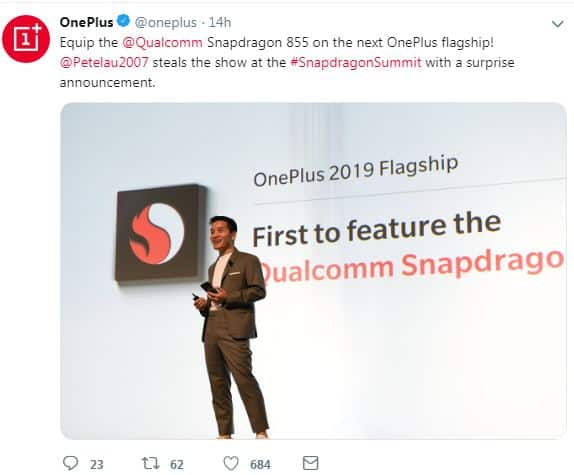 OnePlus 2019 Flagship will be the first to feature the Qualcomm Snapdragon 855
