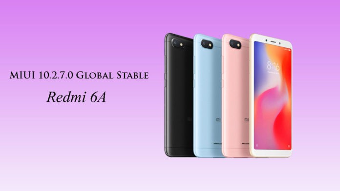 How to Install MIUI 10.2.7.0 Global Stable ROM on Redmi 6A