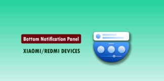 How to Enable Bottom Notification Panel on Xiaomi/Redmi Devices