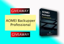 AOMEI Backupper Giveaway is running from May 9 to May 12, 2019