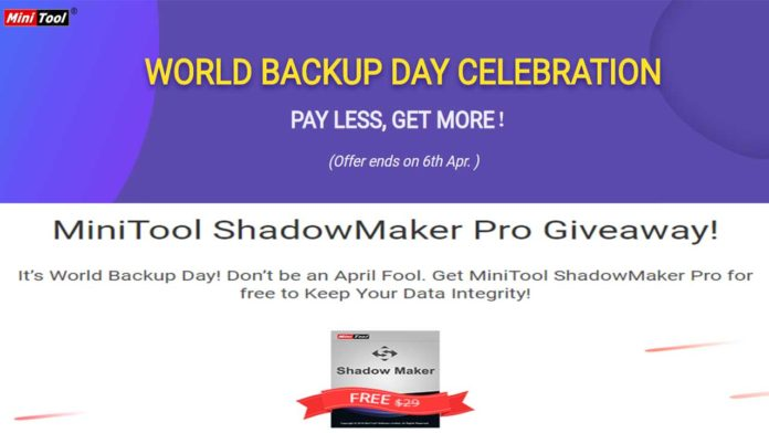 MiniTool Giveaway and Bundle Offers for World Backup Day