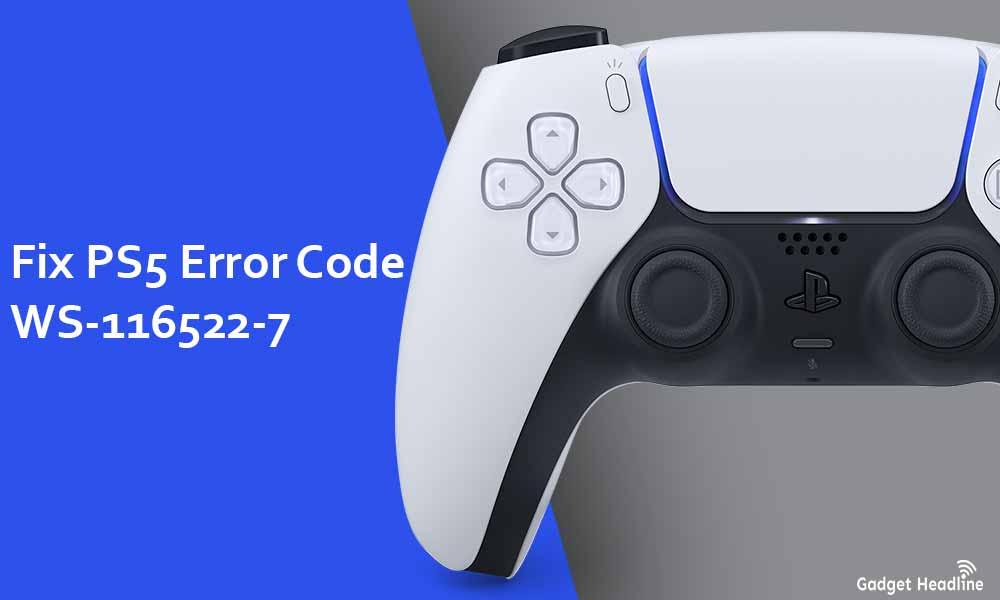 Fix PS5 Error Code WS-116522-7